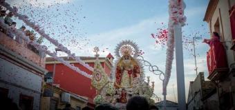 Huévar celebro la Procesion de Gloria de la Virgen de la Soledad