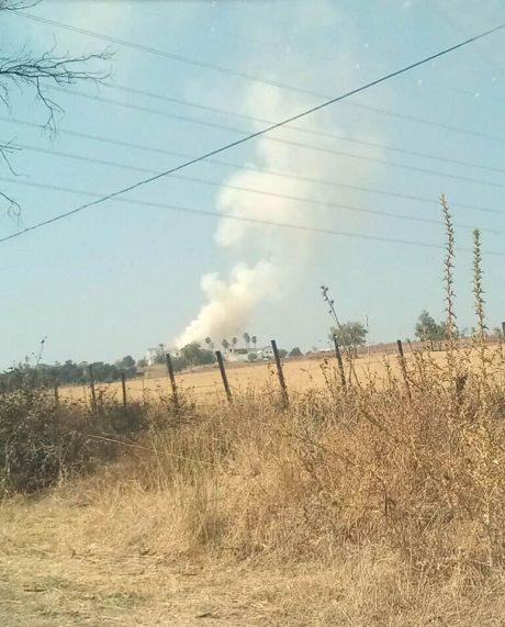 Imagen del fuego desde la lejania