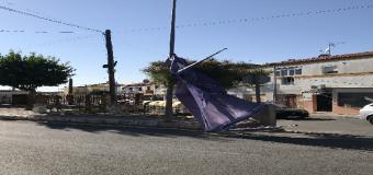 Un pequeño tornado pasa por Huévar del Aljarafe y deja varios daños materiales