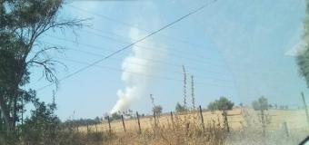 HUEVAR – Incendio en el Cortijo de Lerena