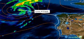 Última hora del ciclón Helene y su trayectoria rumbo al Oeste de Europa