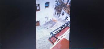 Tormenta en Ronda: las fuertes lluvias inundan el centro de la localidad