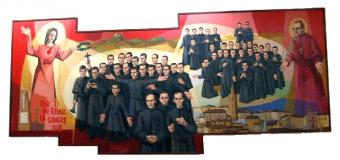 PARROQUIA DE HUEVAR – Procesión con la reliquia de los Martires Claretianos de Barbastro, que los Misioneros del Inmaculado Corazón de María han regalado al Pueblo de Huèvar.