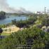 La columna de humo procedente del incendio en Majaloba, en La Rinconada, se podía ver desde la ciudad. / EMERGENCIAS SEVILLA