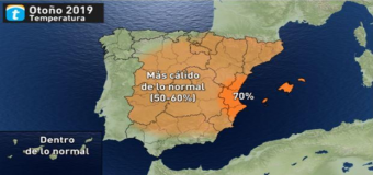 Este otoño podría ser más cálido de lo normal en gran parte de España