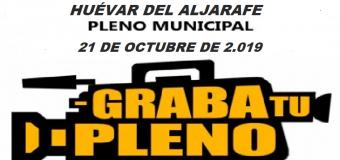 HUÉVAR – Sesión de Pleno Municipal de 21 de octubre de 2019