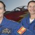 Las capitanas Rosa García Malea y Rocío González Torres.