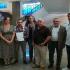 El coordinador de IU en Albaida, Clemente Franco, en el centro con la denuncia que presentó ayer en la Fiscalía de Sevilla. / M. G.
