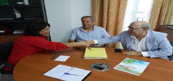 HUEVAR – La Alcaldesa se reúne con los representantes de la ingeniería de gestión energética GE&PE