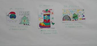 La Peña Betica de Huévar expone los Christmas que han realizado niñas y niños