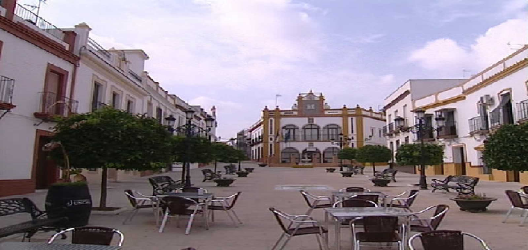 Plaza España de Huévar - foto archivo