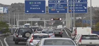 Ya esta abierta al tráfico la nueva salida hacia Huelva desde Sevilla por la A-49