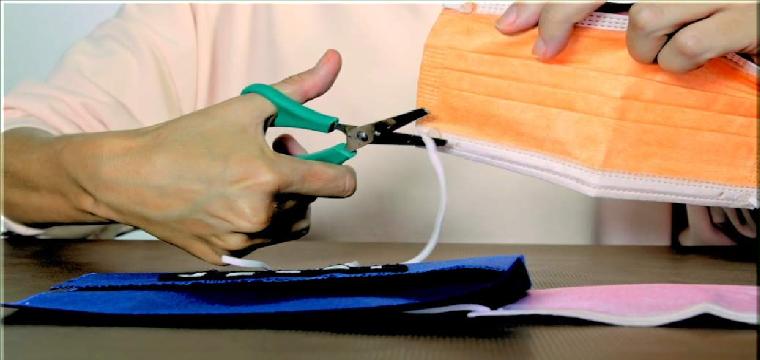 Agotado su uso, cortar las gomas de las mascarillas antes de tirarlas a la basura