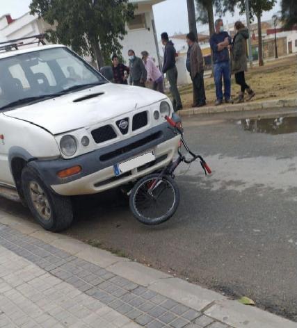 Situación del vehículo tras el atropello