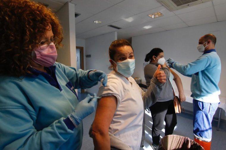 Vacunación en un Centro de Salud