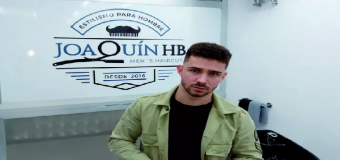 Joaquín, el joven de raíces Hervenses inaugura su nueva peluquería masculina