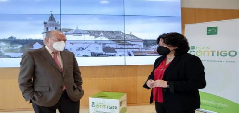 [Sevilla] Nota Prensa. Reunión Con Alcaldesa De Huévar Plan Contigo - DIPUTACIÓN DE SEVILLA