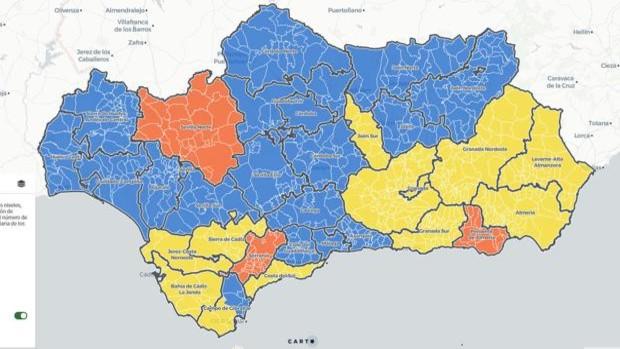 En azul, las zonas que estarán en fase 2 - ABC