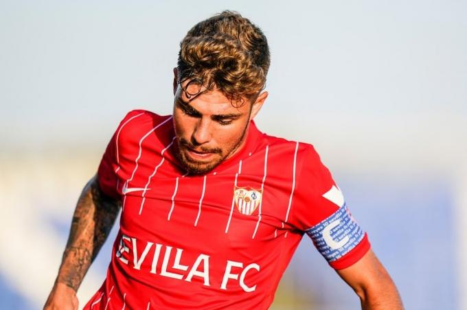 Alejandro Pozo, ante el Coventry (Foto: Sevilla FC).