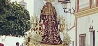 La Virgen de la Sangre salió en paso por la Puerta del Perdón  a las inmediaciones de la Parroquia de la Asunción